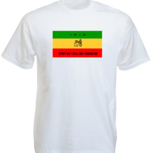 Taille L Tshirt Rasta Irie Couleur Blanche Homme Manches Courtes