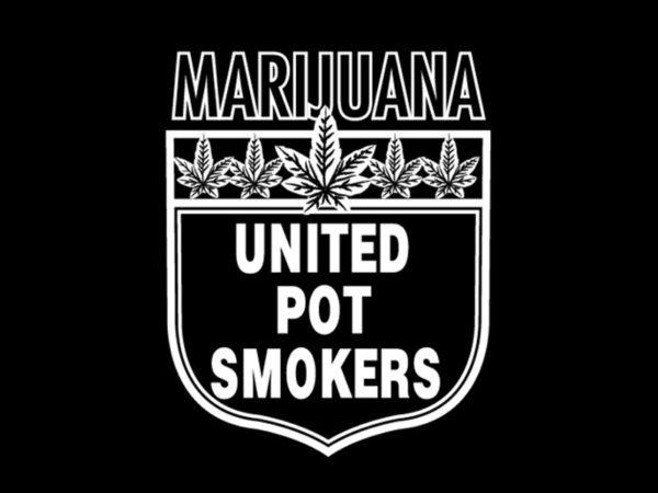 T-Shirt Noir Taille Large Union des Cultivateurs de Cannabis Manches Courtes