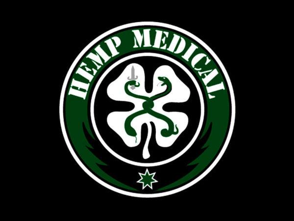 T-Shirt Noir pour Homme Chanvre Cannabis pour la Médecine en Coton