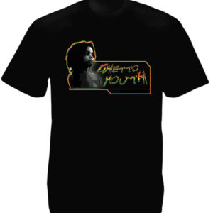 Tee Shirt Noir Reggae Hip Hop Guetto Youth Homme Taille L