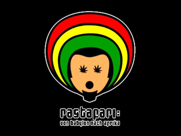T-Shirt Noir Uni Homme Imprimé Logo Rastafari Taille L