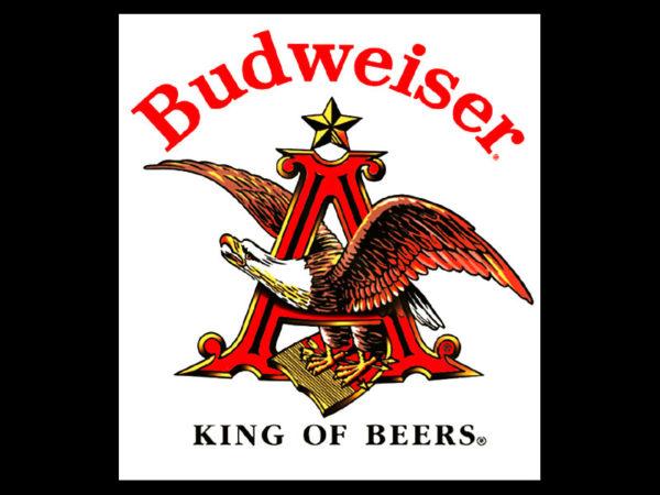 T-Shirt Publicitaire Noir Bière American Budweiser Taille Large