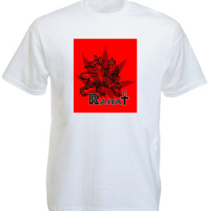 Tee Shirt Rasta Blanc Croix Ânkh Manches Courtes en Coton