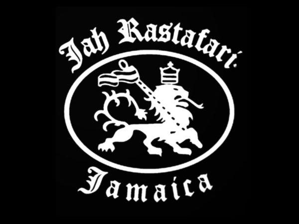 Lion de Juda T-Shirt Noir avec Manches Courtes Jah Rastafari Jamaica