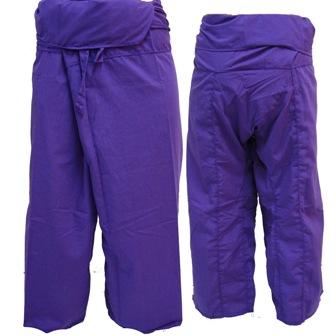 Pantalon Pêcheur Thaï Violet