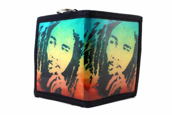 Portefeuille Vinyl Rastaman Vert Jaune Rouge