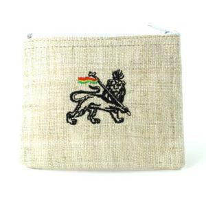 Porte-monnaie Chanvre Blanc Lion de Juda Zip