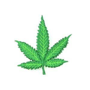 Ecusson Feuille de Cannabis Verte